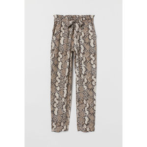 H&M Pull On High-Waist Paper-Bag Tapered Leg Pants